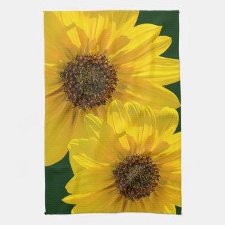 Backlit Sunflower (Helianthus) Towel