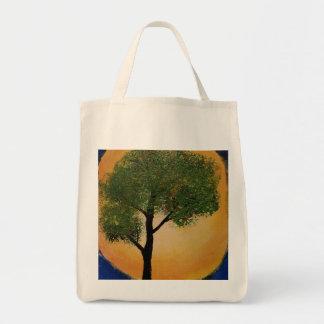 Backlit Tree Painting Tote Bag