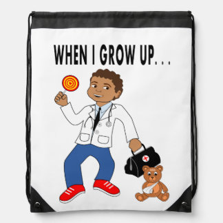 Backpack Cartoon Doctor Boy and Bear