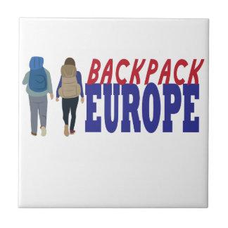 Backpack Europe Ceramic Tiles