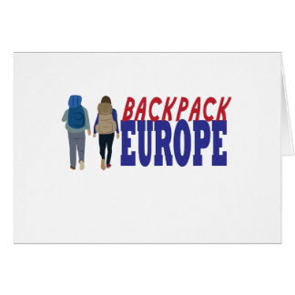 Backpack Europe Greeting Card