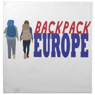 Backpack Europe Napkin