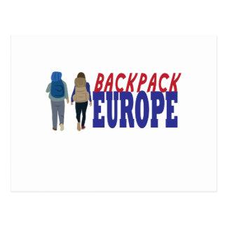 Backpack Europe Postcard