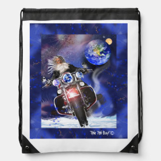 Backpack, Harley Davidson spinning away from earth Cinch Bags