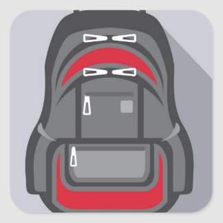 Backpack vector square sticker