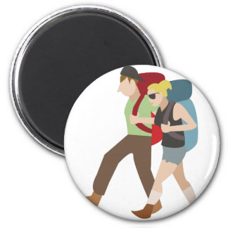 Backpackers 2 Inch Round Magnet