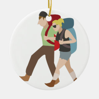 Backpackers Ceramic Ornament