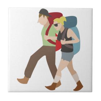 Backpackers Ceramic Tile