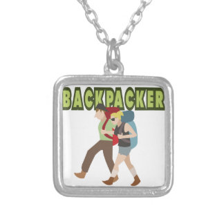 Backpackers Silver Plated Necklace