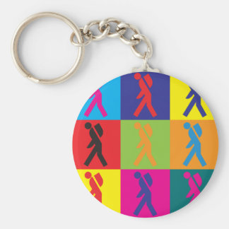 Backpacking Pop Art Keychain