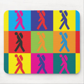 Backpacking Pop Art Mouse Pad