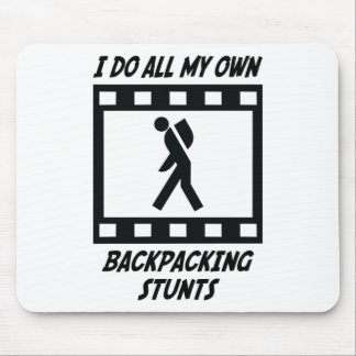 Backpacking Stunts Mouse Pad