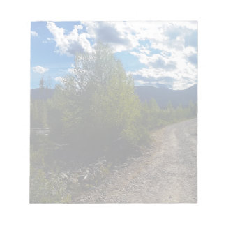 Backroad to Bowman lake Glacier National Park Notepad