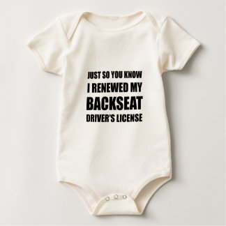 Backseat Drivers License Baby Bodysuit