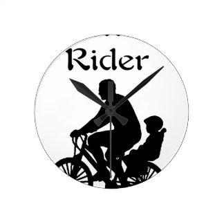 Backseat Rider Round Clock