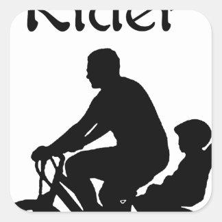 Backseat Rider Square Sticker