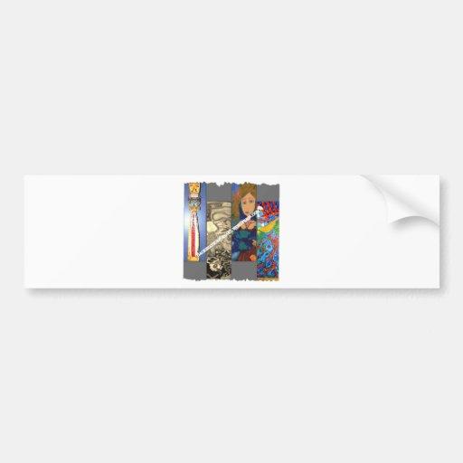 Backseat Surfers Art Bumper Stickers