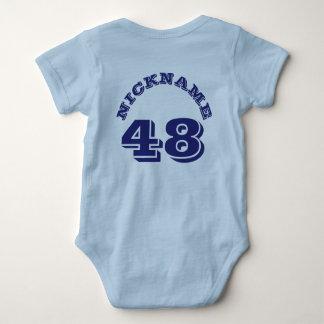 Backside Light Blue & Navy Baby | Sports Jersey Baby Bodysuit