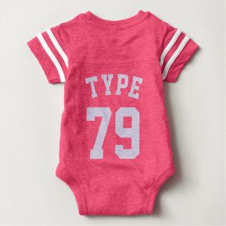 Backside Pink & Light Lilac Baby | Sports Jersey Baby Bodysuit