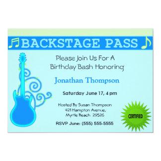 Backstage Pass Birthday Invitation