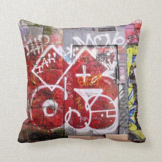 Backstreet Alley Graffiti Throw Pillow