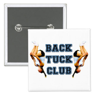 Backtuck club 2 inch square button