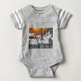 Backwoods Cabin Baby Bodysuit