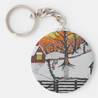 Backwoods Cabin Keychain