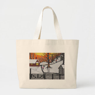 Backwoods Cabin Large Tote Bag