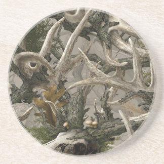 Backwoods deer skull camo coaster
