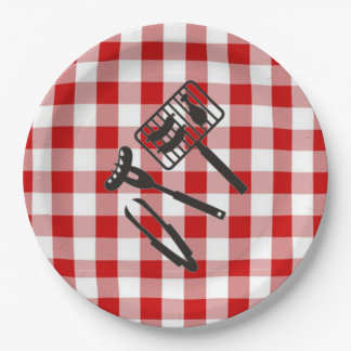 Backyard BBQ Father's Day Party Paper Plates