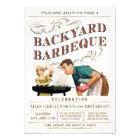 Backyard BBQ Invitations | Vintage Classic V.2