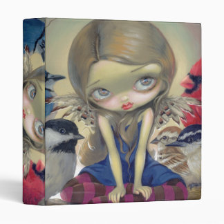 Backyard Birds BINDER big eye lowbrow art fairy