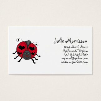 Backyard Buggies · Smiling Ladybug Business Card