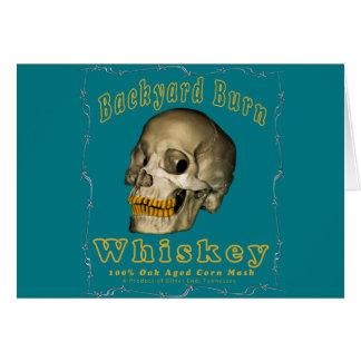 Backyard Burn Whiskey Card