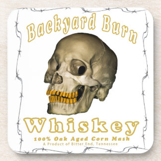 Backyard Burn Whiskey Coasters