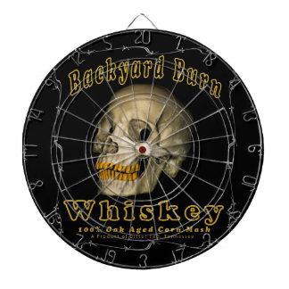 Backyard Burn Whiskey Dartboard