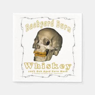 Backyard Burn Whiskey Disposable Napkin