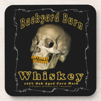 Backyard Burn Whiskey Drink Coaster