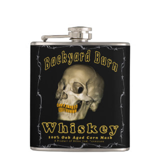 Backyard Burn Whiskey Hip Flask