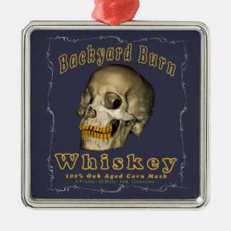 Backyard Burn Whiskey Metal Ornament