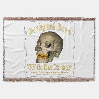 Backyard Burn Whiskey Throw Blanket