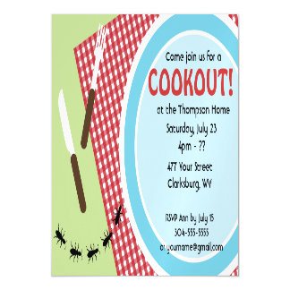 Backyard Cookout Magnetic Invitations