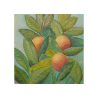 BACKYARD FLORIDA ORANGES Wood Wall Art