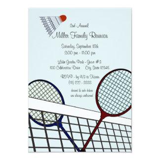 "Backyard Games/ Badminton 5"" X 7"" Invitation Card"