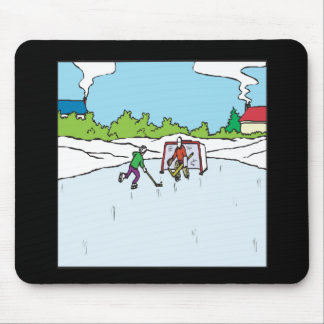 Backyard Hockey Mouse Pad