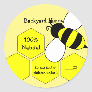 Backyard Honey 100% Natural Label