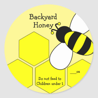 Backyard Honey Label