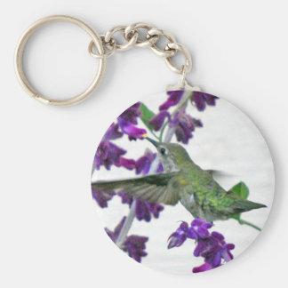 Backyard Hummingbird Basic Round Button Keychain