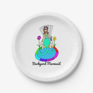Backyard Mermaid 7 Inch Paper Plate